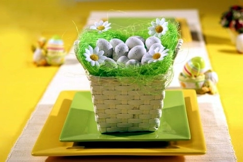 Send diy ideas on how to craft a festive easter basket interior small decorative grass in a basket send diy ideas on how to craft a festive easter basket negle Images