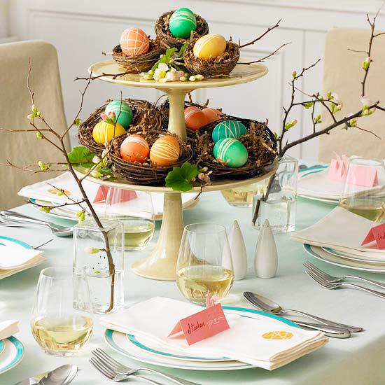 Easy homemade easter table decorations and placemats
