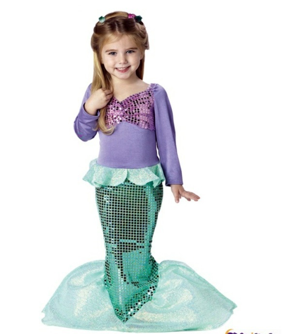 plus size little mermaid costume halloween kids costumes thematic festive clothing for little plus size little mermaid costume