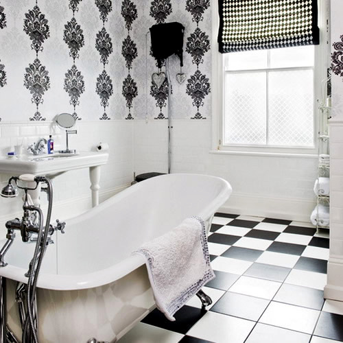 Traditional White Bathroom Designs traditional black and white bathroom ideas | interior design ideas
