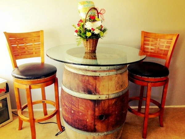 Wine barrel bar table and many other DIY furniture that can be ...