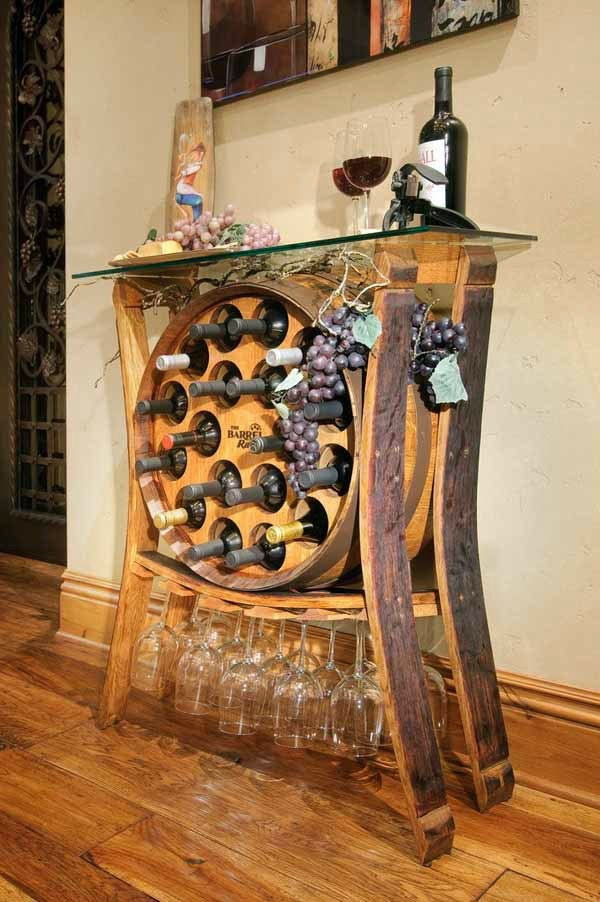 Wine barrel bar table and many other diy furniture that for How to build a wine bar