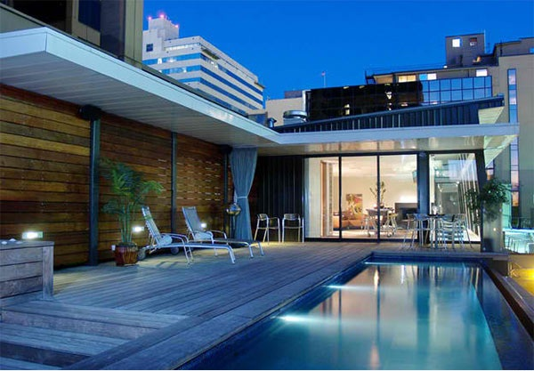 a stunning roof terrace design 15 rooftop pools that will look just interior design ideas. Black Bedroom Furniture Sets. Home Design Ideas