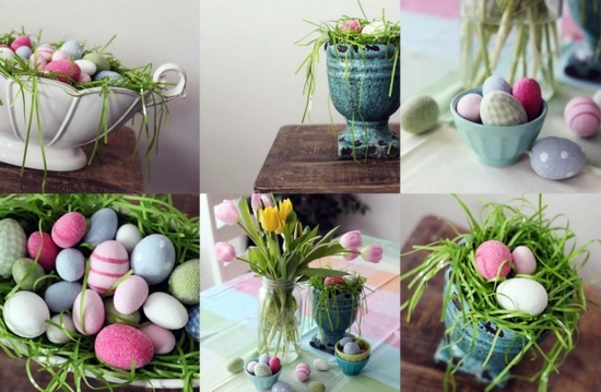 osterdeko easter decoration ideas with brightly painted and splendidly decorated easter eggs - Easter Decorating Ideas