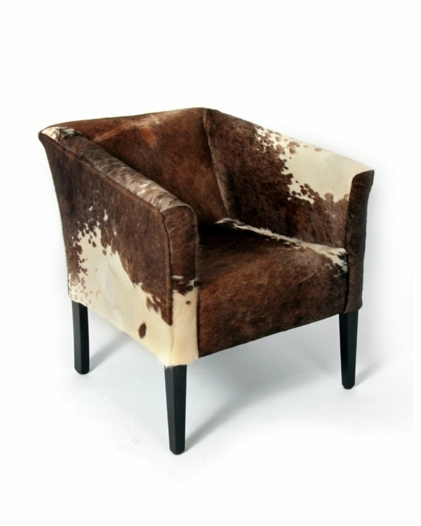 Kuhfellhocker And Armchair Cowhide As Extravagant
