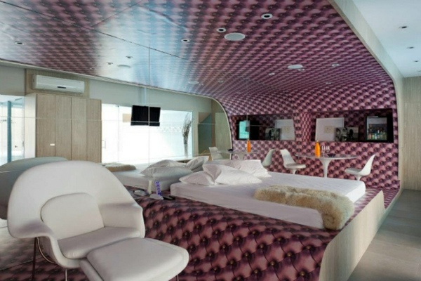 Lavender Leather Look 26 Futuristic Bedroom Designs