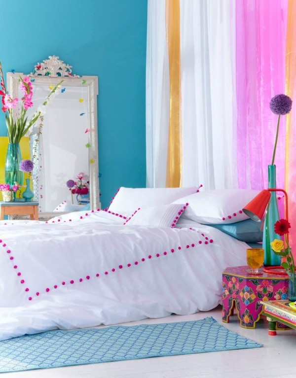 Color Display Ideas Bedroom   Colorful Design Ideas Schlafzimmer Ideen    Color Ideas Bedroom   Influential Colors And Decoration