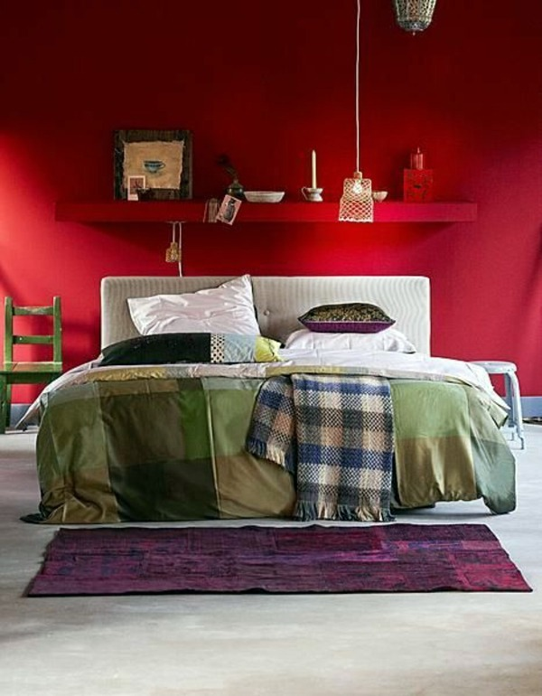 influenced by red color ideas bedroom influential colors and decoration - Bedroom Color Red