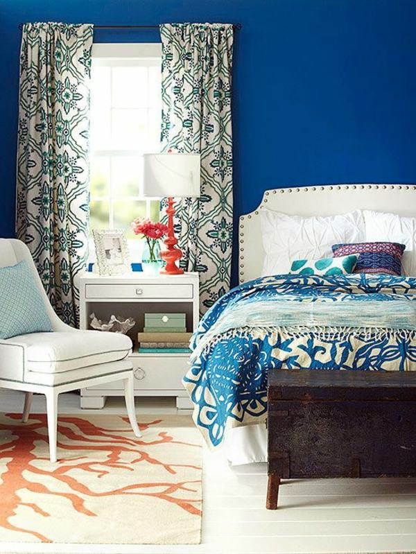 Blue Wall Color Ideas Bedroom   Influential Colors And Decoration