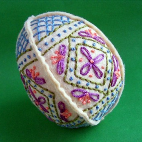 DIY Deko - How to decorate your Easter eggs with textiles