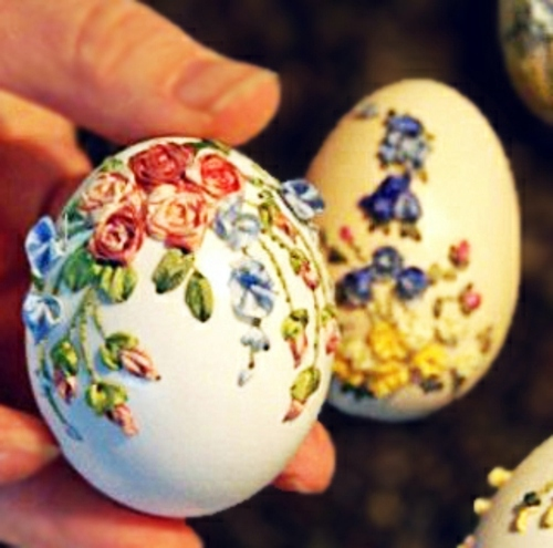 How to decorate your Easter eggs with textiles