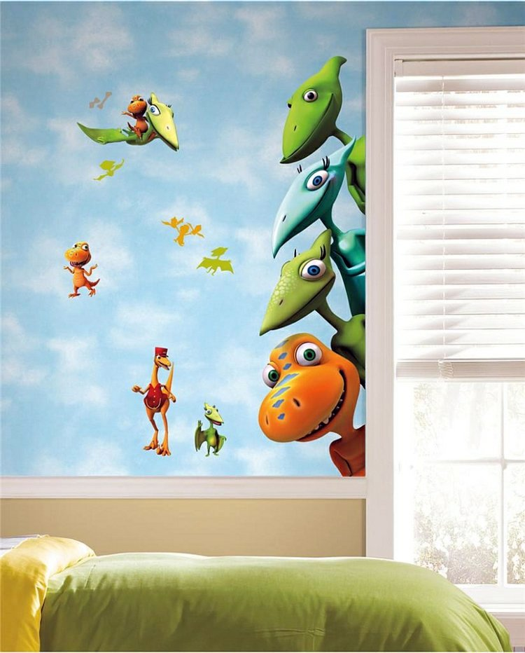 Nursery Wall Decal Liven Up The Room With Dinosaur Pictures - 3d dinosaur wall decalsd dinosaur wall stickers for kids bedrooms jurassic world wall