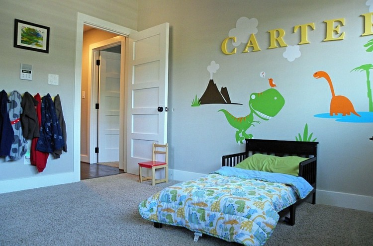 Funny And Colorful Dinosaur Nursery Wall Decal Liven Up The Room With Dinosaur Pictures