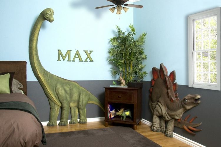 Nursery Wall Decal  Liven Up The Room With Dinosaur Pictures - 3d dinosaur wall decals