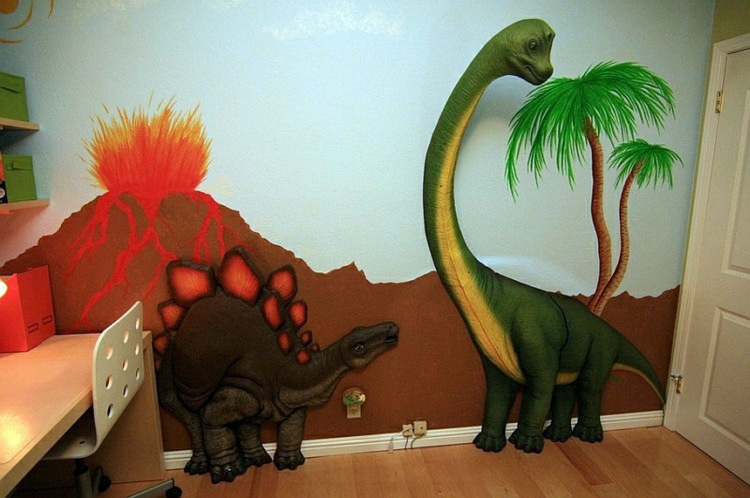 Nursery wall decal liven up the room with dinosaur for Nice ideas dinosaur decals for walls