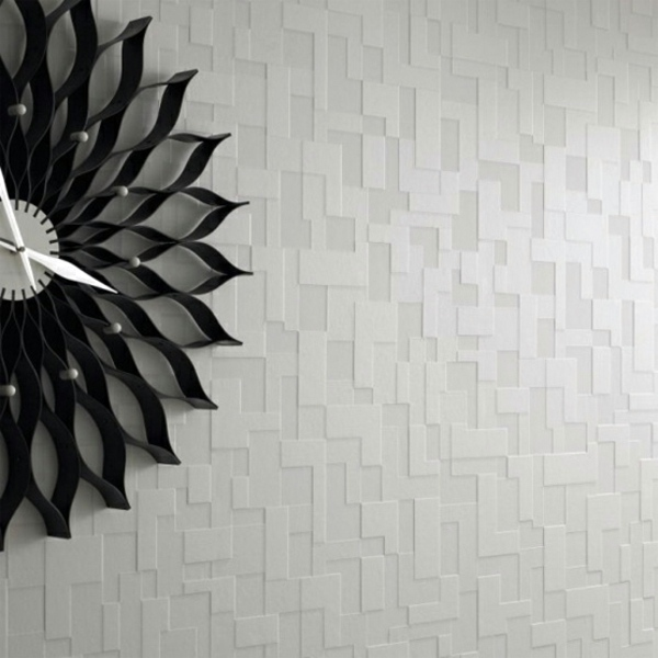 Modern monochrome wallpaper with 3d effect form and for Stylish wallpaper designs