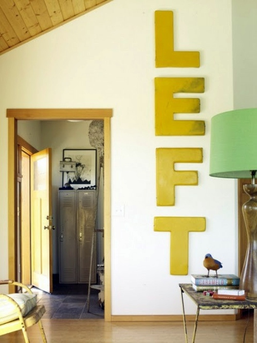 12 Decoration ideas with words – Express your emotions! | Interior ...