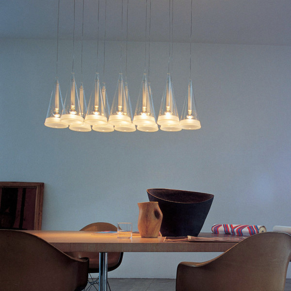 Original designs in dining room pendant lights over the for Hanging light fixtures for dining room