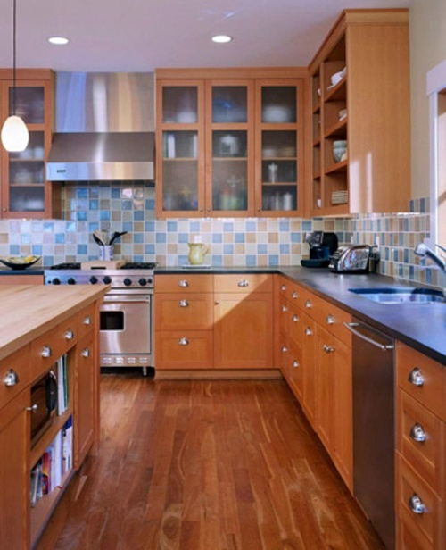 22 original and practical ideas for kitchen floor plans for Practical flooring ideas