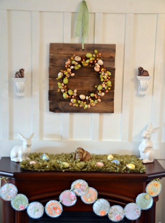 32 stylish deco ideas for easter adorn the mantel for Deco decorations