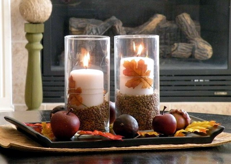 autumn decoration ideas colorful table decoration and other craft