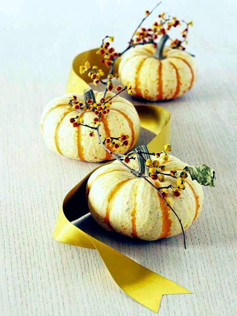 Autumn decoration ideas – colorful table decoration and other craft ...