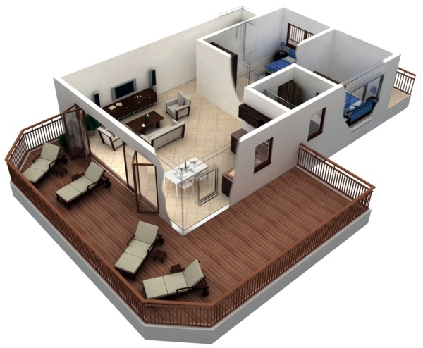 3d room planner for the whole apartment - House Room Planner
