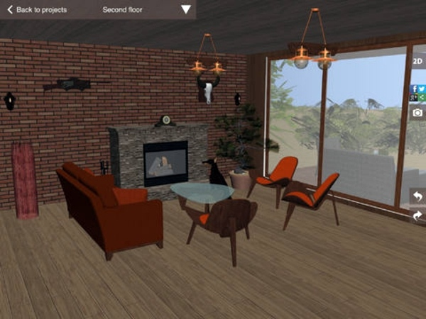 Plan Living Room With The 3D Application And Organize Room Planner   Free  3D Room Planner