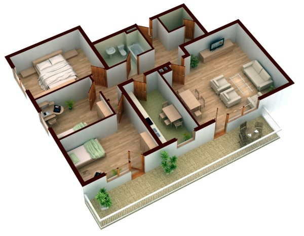 With more rooms Room Planner - free 3D room planner .