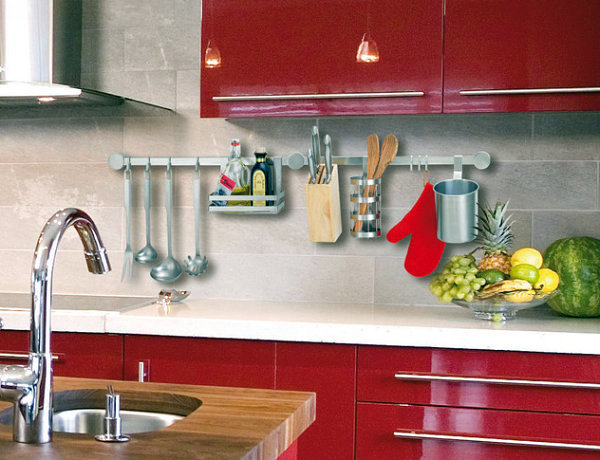 20 ideas for practical living kitchen accessories as decoration interior design ideas avso org - Kitchen design in small space decoration ...