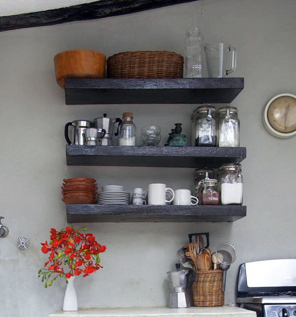 Decorative Wall Shelves For The Kitchen : Ideas for practical living kitchen accessories as