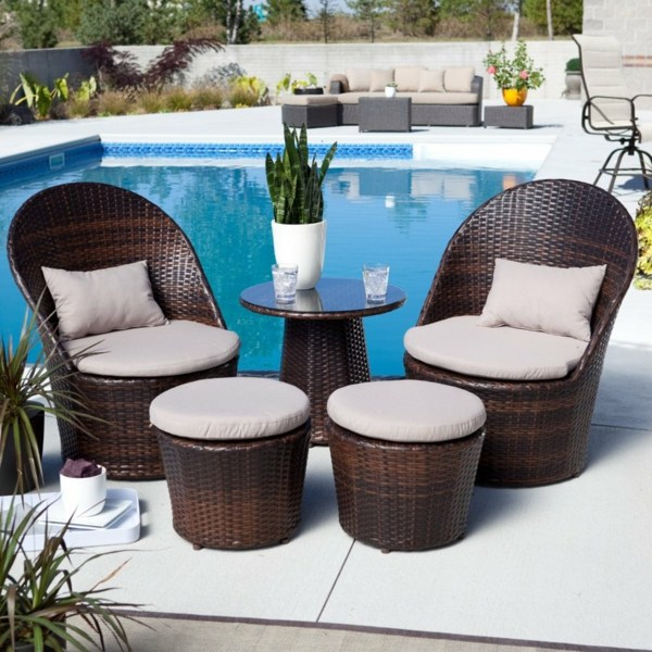 Relax By The Pool Balcony Furniture Rattan   Cool Designer Ideas