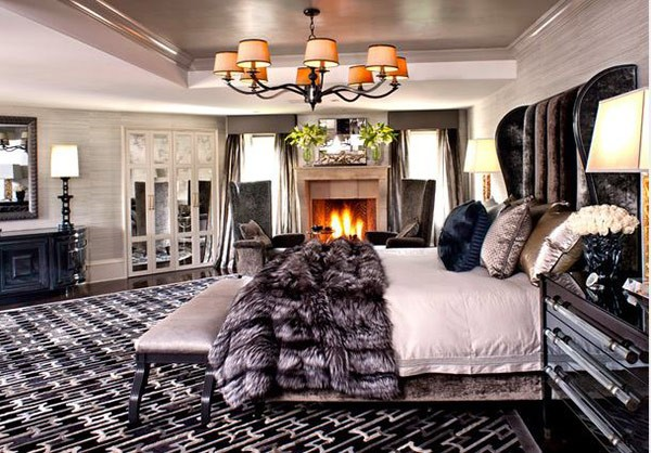 Bedroom design and wall colors  charm and luxury in the bedroom