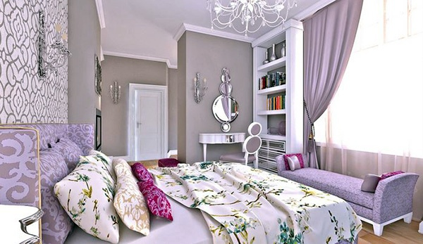 Female Rooms Bedroom Design And Wall Colors   Charm And Luxury In The  Bedroom