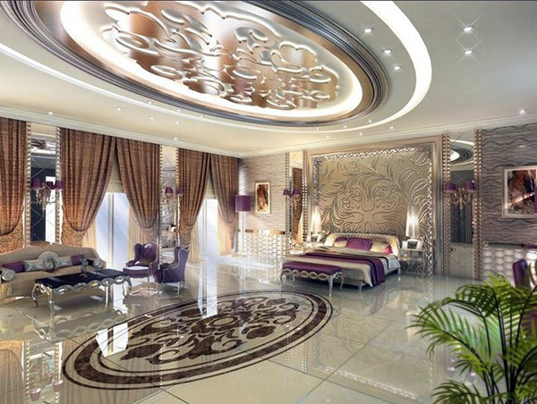 Bedroom design and wall colors charm and luxury in the bedroom interior design ideas avso org Royal purple master bedroom