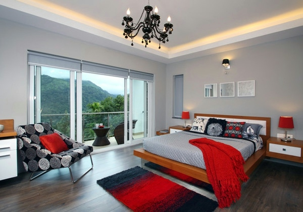 Fashion bedroom wall color combination and color design Interior