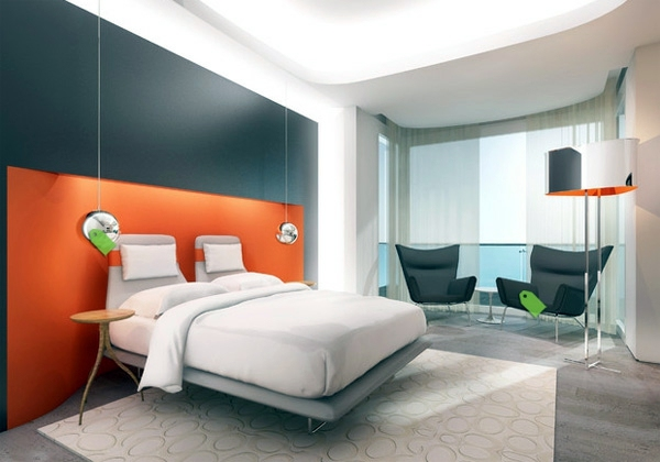 fashion bedroom wall color combination and color design