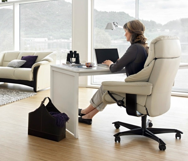 Stressless office chair provide for the comfort in the office interior design ideas avso org - Comfortably luxury home offices ideas making working less stressful ...