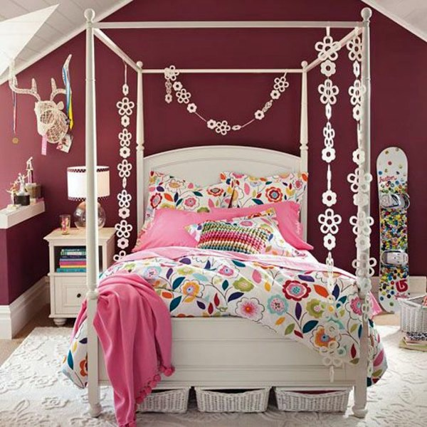 Designed 20 comfortable rooms with sloping ceilings youth - How to decorate a girl room ...