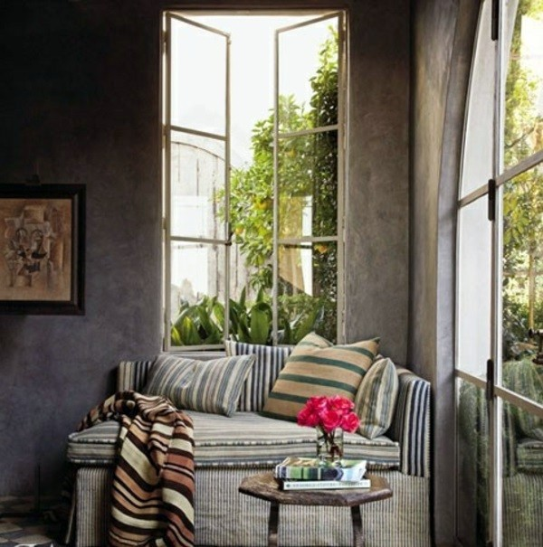 Striped Pillow Mediterranean Interior Design Ideas   Inspiration From The  Old World