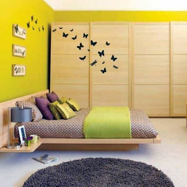 Butterfly Motifs And Yellow Accents 81 Youth Room Ideas And Pictures For  Your Home