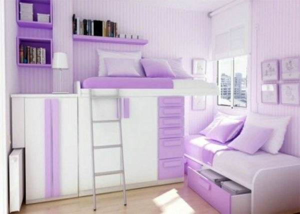 Light And Beauty With Purple White Shades 81 Youth Room Ideas Pictures For Your Home