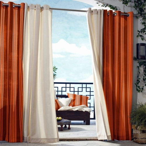 Gartengestaltung - Curtains for outdoor use - Drag your patio curtains for the summer!
