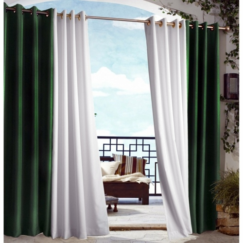 Curtains for outdoor use - Drag your patio curtains for the summer!