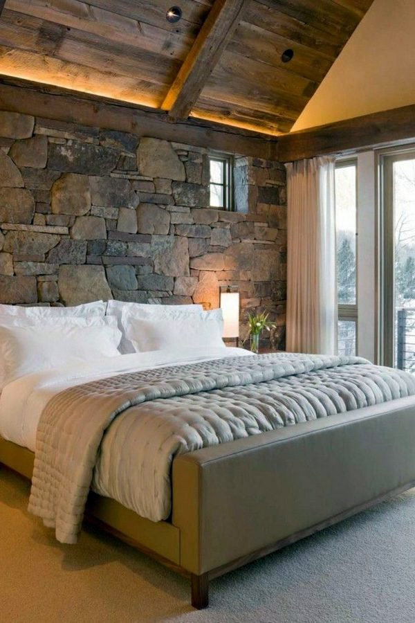 Lovely Interior Designs For Room lovely interior design for living room and dining room small living and dining room design design Stone Wall In The Rustic 40 Lovely Bedroom Design Ideas