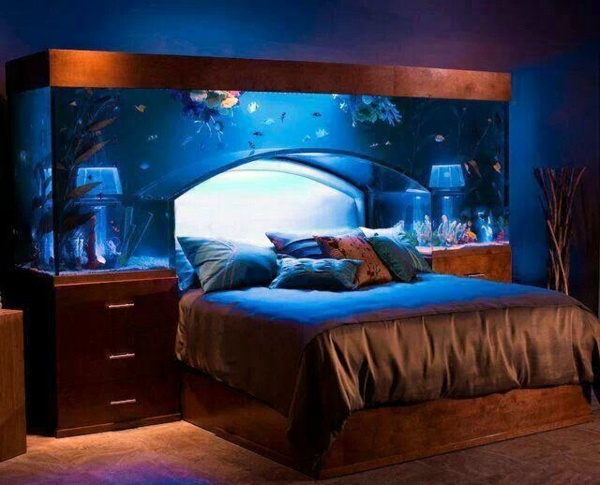 Sleeping under the aquarium 40 lovely bedroom design ideas 40 lovely bedroom design ideas interior