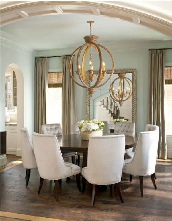 Gray Covered Chairs 70 Round Dining Tables That Can Totally Transform Any  Kitchen