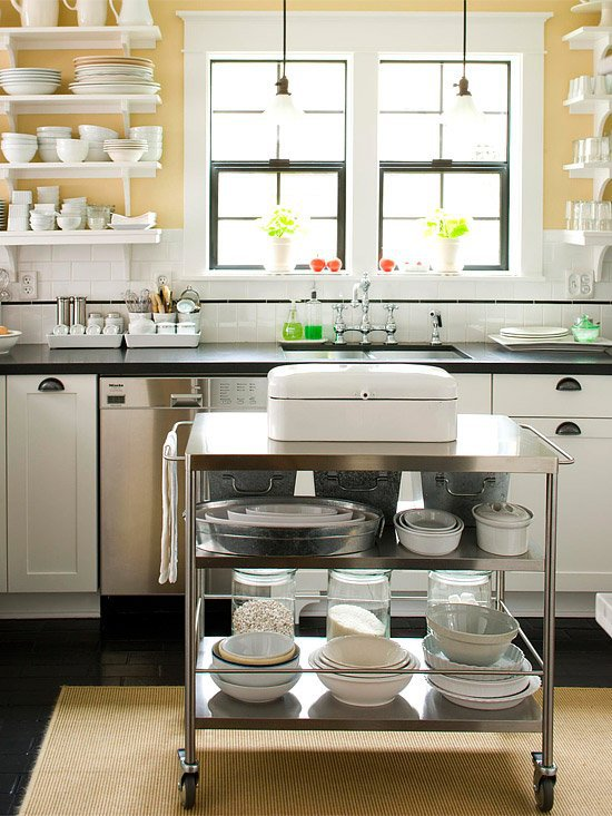 Island With Open Storage Space   Mobile. Kücheninsel   Kitchen Island Ideas  For Small Space