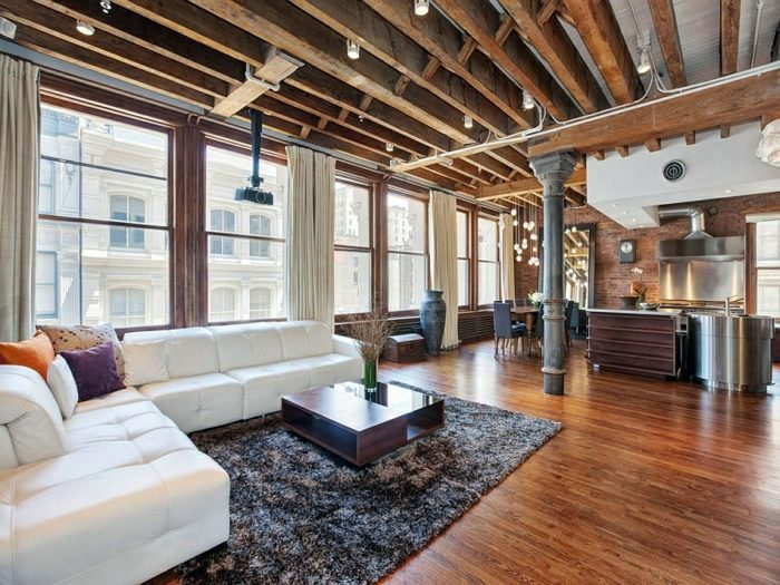 What Is The Modern Interior Of A City Apartment In New York