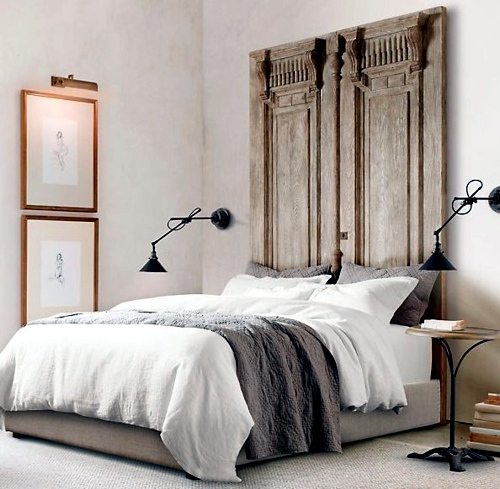 38 Creative Ideas For DIY Vintage Headboard For Your Bed
